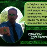Derek as Green Lantern